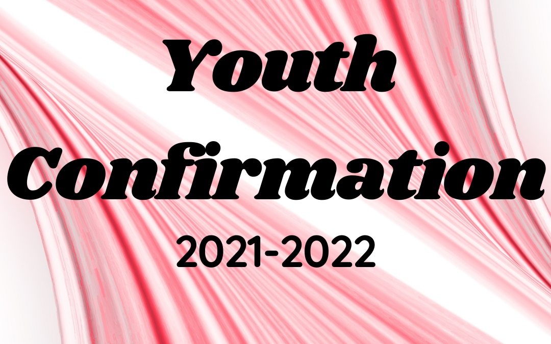 Youth Confirmation 2021-2022 with pink abstract background