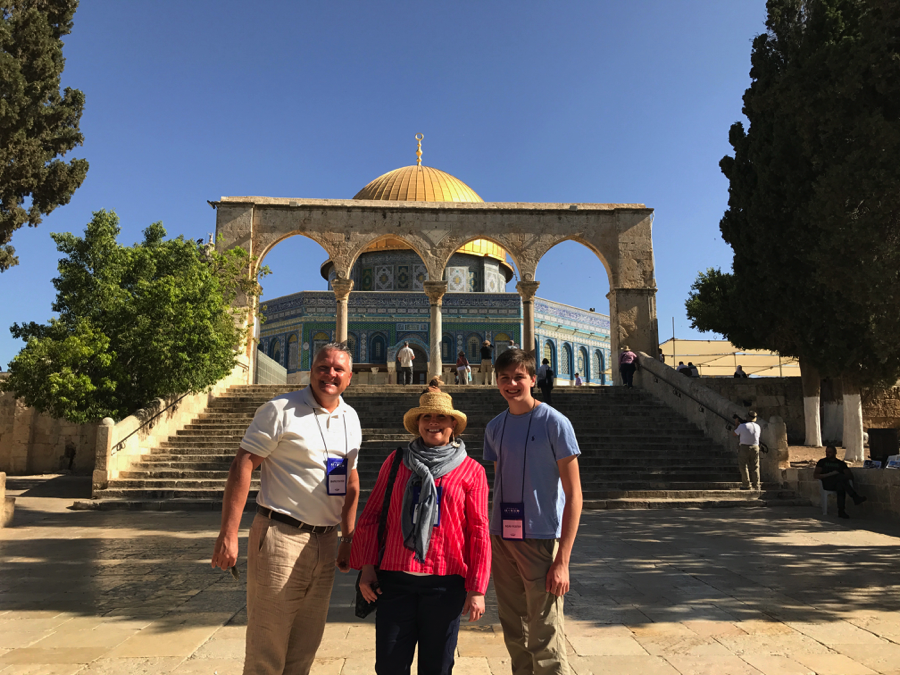 Pastor Mark during trip to Israel