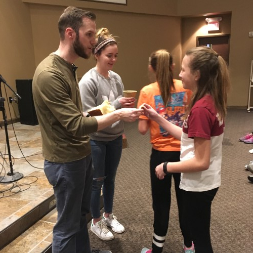Pastor Andy with 30-hour Famine students