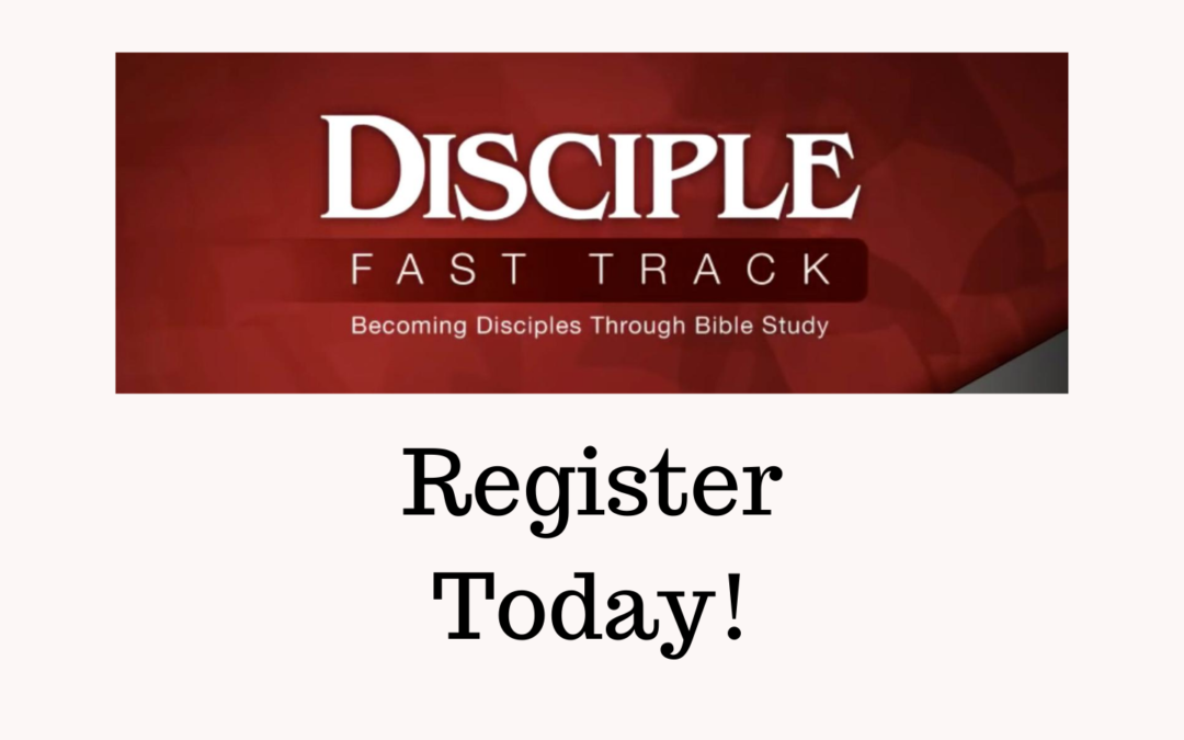 Disciple Fast Track graphic for registration